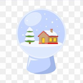 Generic Button - Crystal Ball Santa Claus Christmas Day Vector Graphics Image PNG