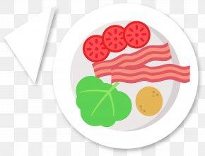 Raw Bacon - Bacon Roll Breakfast PNG