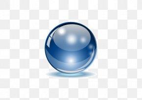 Blue Glass Balls - Sphere Euclidean Vector Glass PNG