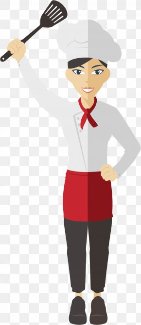 Female Chef Cliparts - Chef Cooking Female Clip Art PNG