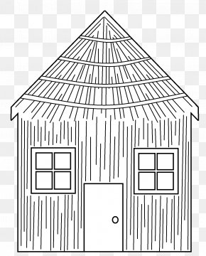 Straw House Cliparts - Big Bad Wolf Domestic Pig Coloring Book The Three Little Pigs House PNG