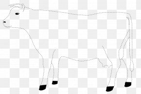 Silhouette - Cattle Drawing Calf Silhouette Line Art PNG