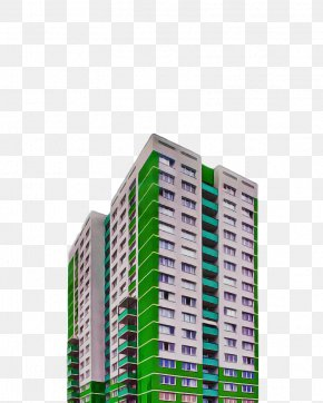 Real Estate Facade - Green Condominium Tower Block Commercial Building Architecture PNG