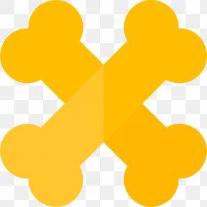 Yellow Bones - Bone Icon PNG