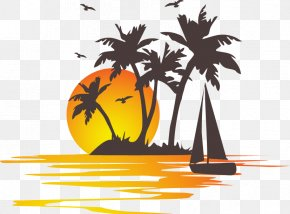 Summer Vacation Theme - Cross-stitch Embroidery PNG