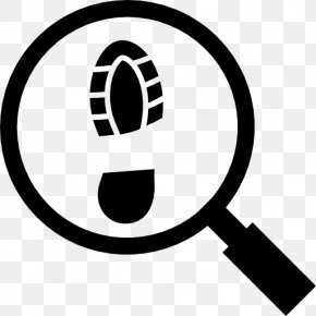 Magnifying Glass - Footprint Magnifying Glass PNG