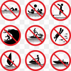 Swimming Prohibited - Prohibition In The United States Sign Illustration PNG