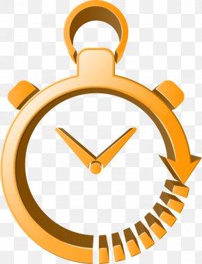 Three-dimensional Vector Yellow Clock - Clock Euclidean Vector Three-dimensional Space Icon PNG