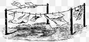 Clothes Line Art - Clothing Laundry Pixabay Illustration PNG