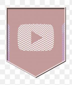 Polka Dot Peach - Play Icon Shield Icon Social Icon PNG