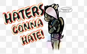 Haters Gonna Hate - Logo Character Font PNG