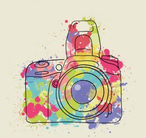 Watercolor Painting - Watercolor Painting Camera Photography PNG