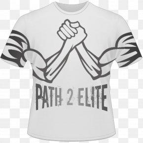 Gym T-shirt Design - Arm Wrestling T-shirt Wrestling Ring Clip Art PNG