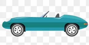 Blue Sports Car Vector - Sports Car Automotive Design PNG