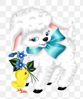 Transparent Easter Lamb And Chicken Clipart Picture - Sheep Easter Clip Art PNG