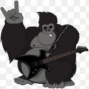 Vector Black Gorilla - Gorilla Ape Primate Chimpanzee PNG