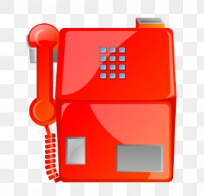 Red Phone - Telephone Payphone Mobile Phone Icon PNG