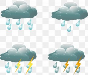 Rainy Weather Icon - Rain Weather Icon PNG