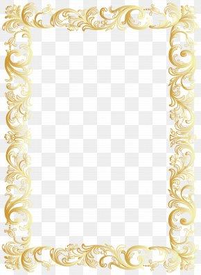 Vintage Border Frame Clip Art Image - Clip Art PNG