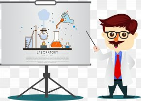 Chemistry Cartoon Teacher - Cartoon Teacher Chemistry PNG