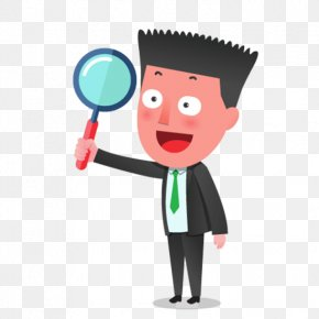 Professionals Holding A Magnifying Glass - Magnifying Glass Icon PNG