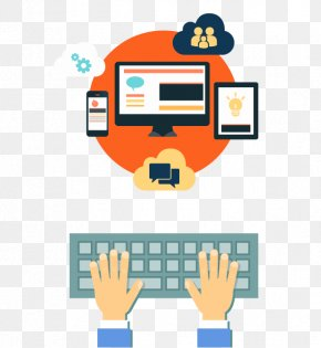 Cartoon Flat Internet Computer Technology - Internet Information Analytics Industry Data PNG