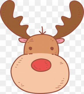 Cute Cartoon Reindeer - Reindeer Cartoon Clip Art PNG