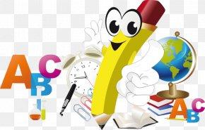 Cartoon Pencil - School Cartoon Pencil Illustration PNG