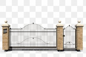 Fence - Fence Gate Wrought Iron Inferriata PNG