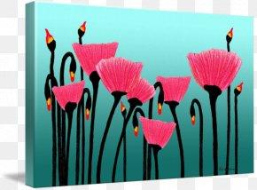Poppy Field - Petal Floral Design Pink M Flowering Plant PNG