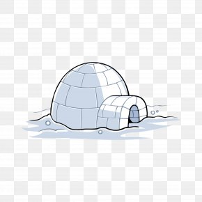Penguin Cave - Ice House Snow Cartoon PNG
