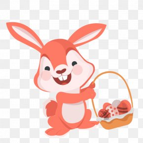 Vector Happy Bunny - Easter Bunny Easter Egg Rabbit PNG