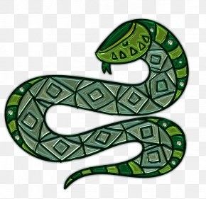 Metal Snake Stickers - Smooth Green Snake Reptile PNG