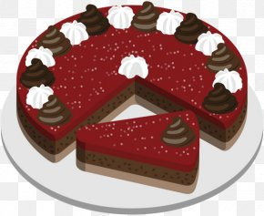 Chocolate Cake - Chocolate Cake Fruitcake Torte Wedding Cake Cream PNG