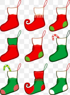 Christmas Socks - Santa Claus Christmas Clip Art PNG