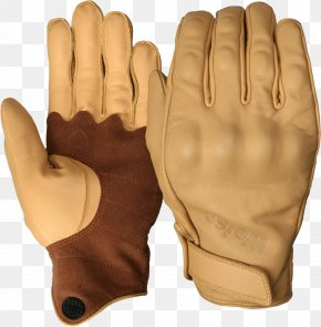 Leather Gloves Image - Glove Leather Tan Cuff Clothing PNG