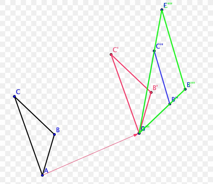 Triangle Transformation Rotation Geometry, PNG, 1259x1086px