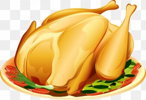 A Baked Chicken Material - Turkey Meat Roast Chicken Clip Art PNG