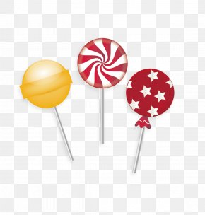 Candy - Lollipop Candy Cane Stick Candy PNG
