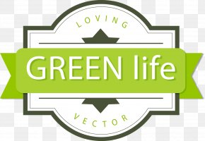 Creative Green Living Leaves Background Vector - Sticker Advertising PNG