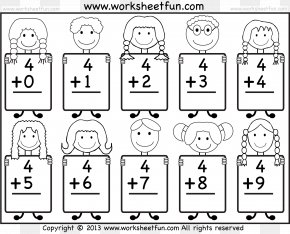Mathematics - Addition Kindergarten Mathematics Worksheet Adding And Subtracting Fractions PNG