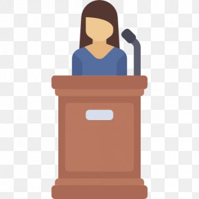 Teacher Standing On The Podium - Judge Witness Trial Icon PNG