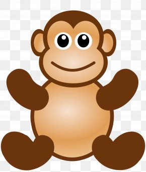 Monkey - Primate Ape Chimpanzee Monkey Clip Art PNG