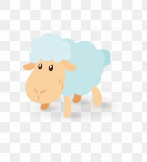 Cute Sheep Cartoon Vector Material - Lovely Sheep Cartoon Clip Art PNG