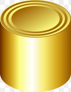 Golden Jar - Cylinder Tin Can Beverage Can Clip Art PNG