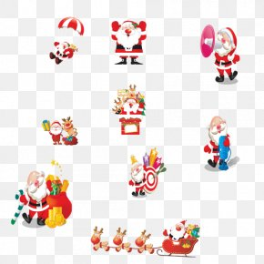 The First Set Of Shapes Santa Claus - Santa Claus Christmas Clip Art PNG