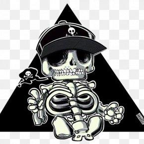 Skull - Skull Cartoon Drawing Illustration PNG