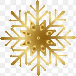 Golden Snowflake - Snowflake PNG