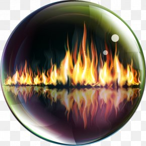 Cool Creative Flame - Fire-resistance Rating Fire Glass PNG