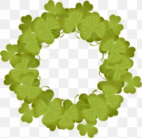 St. Paddy's Party - Green Shamrock Leaf PNG
